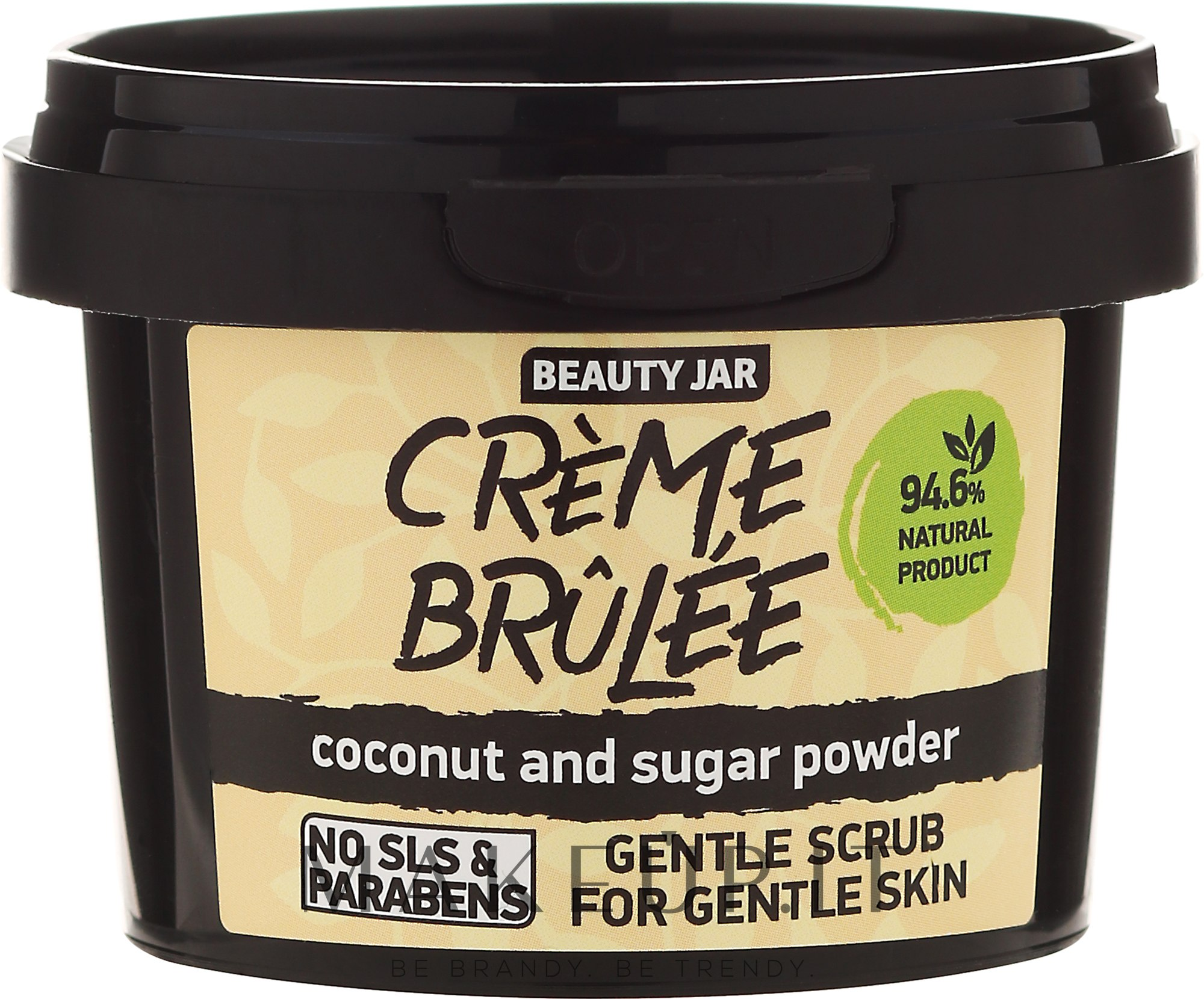 """Scrub viso per pelli sensibili """"Creme brulee"""" - Beauty Jar Gentle Scrub For Gentle Skin — foto 120 g"""