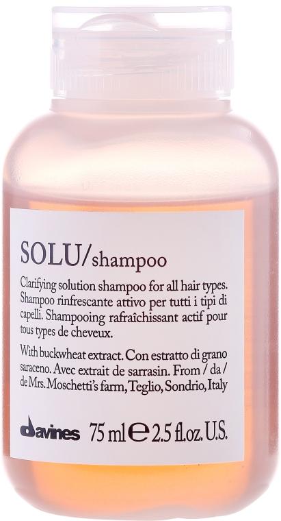 Shampoo attivamente rinfrescante per la pulizia profonda dei capelli - Davines Solu Shampoo — foto N1