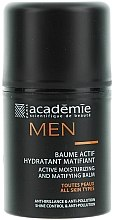 Profumi e cosmetici Balsamo viso idratante attivo e opacizzante, uomo - Academie Men Active Moist & Matifying Balm