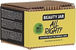 Profumi e cosmetici Shampoo solido per capelli normali con cocco e burro di cacao - Beauty Jar Hair Care All Righty Shampoo