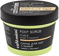 """Profumi e cosmetici Scrub per piedi """"Ginger and Bergamot"""" - Cafe Mimi Foot Scrub Pumice"""