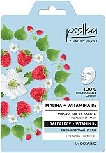"Profumi e cosmetici Maschera in tessuto ""Lampone e vitamina B3"" - Polka Raspberry And Vitamin B3 Facial Sheet Mask"