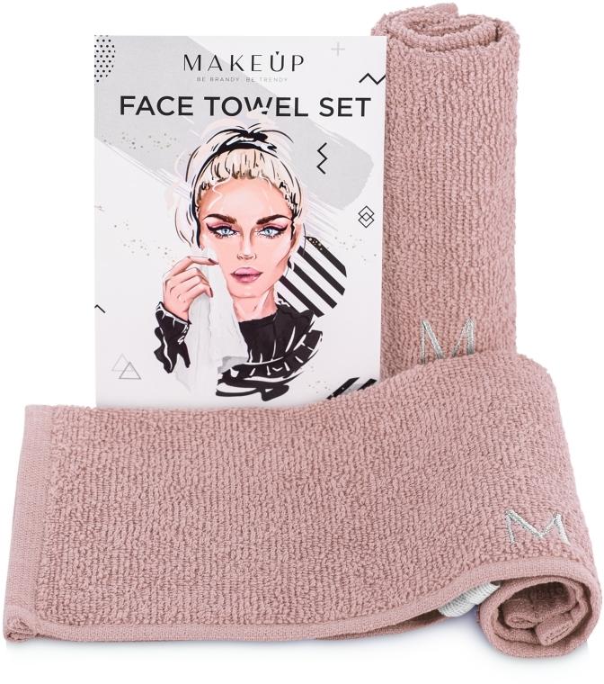 "Set asciugamani da viaggio, beige ""MakeTravel"" - Makeup Face Towel Set"