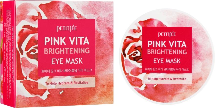 Patch occhi illuminanti a base d'acqua di rose - Petitfee&Koelf Pink Vita Brightening Eye Mask