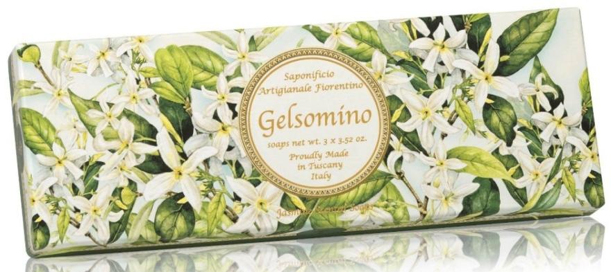 """Set di sapone naturale """"Jasmine"""" - Saponificio Artigianale Jasmine Scented Soap (soap/3pcsx100g)"""