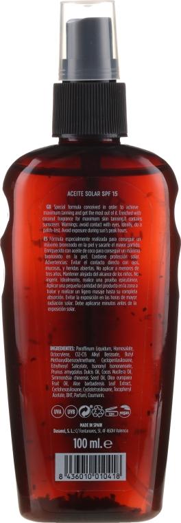 Olio solare - Mediterraneo Sun Coconut Suntan Oil Dark Tanning SPF15 — foto N2