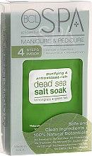 Profumi e cosmetici Set - BCL SPA Manicure & Pedicure Lemongrass + Green Tea (scr/28gr + salt/14gr + mask/15ml + cream/15ml)