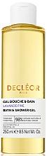Profumi e cosmetici Gel doccia con olio essenziale di lavanda - Decleor Lavender Fine Relaxing Bath & Shower Gel