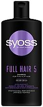 Profumi e cosmetici Shampoo per capelli fini senza volume - Syoss Full Hair 5 Shampoo
