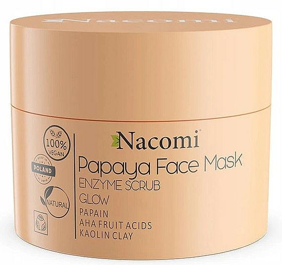 Maschera peeling viso a base di argilla bianca - Nacomi Papaya Face Mask Enzyme Scrub