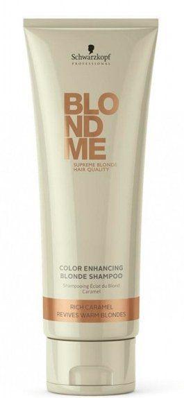 Shampoo per capelli con tonalità calde - Schwarzkopf Professional Blondme Color Enhancing Rich Caramel Warm Blond Shampoo — foto N1