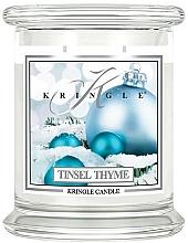 Profumi e cosmetici Candela profumata in barattolo di vetro - Kringle Candle Tinsel Thyme