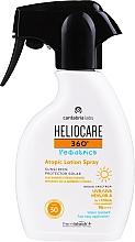 Profumi e cosmetici Crema solare spray per bambini per pelli atopiche SPF 50 - Cantabria Labs Heliocare 360? Pediatrics Atopic Lotion Spray SPF 50