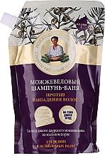 """Profumi e cosmetici Bagno shampoo """"Contro la caduta dei capelli al ginepro"""" - Ricette di nonna Agafia (doypack)"""