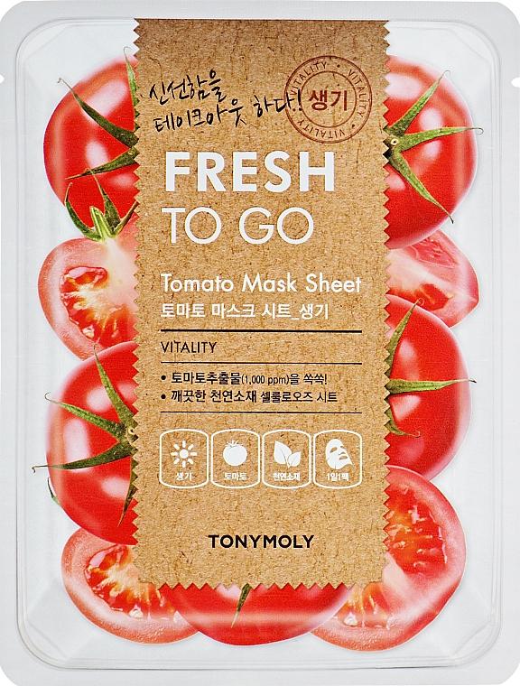 Maschera in tessuto rinfrescante al pomodoro - Tony Moly Fresh To Go Mask Sheet Tomato