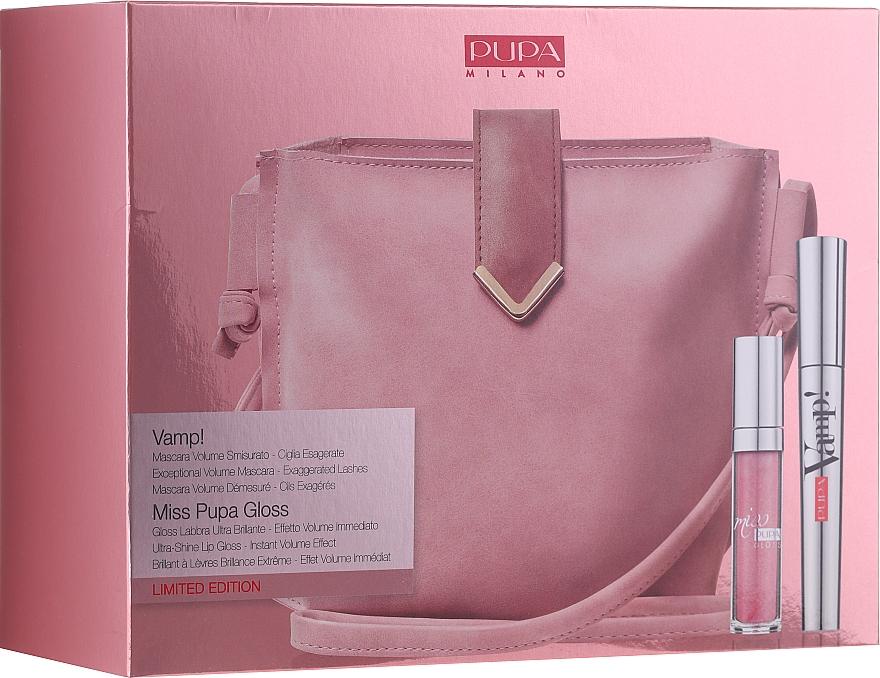 Set - Pupa Limited Edition (mascara/9ml + lip/gloss/5ml + bag)