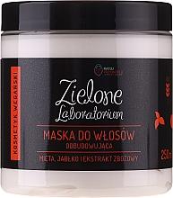 Profumi e cosmetici Maschera per capelli rivitalizzante con estratti di menta, mela e cereali - Zielone Laboratorium