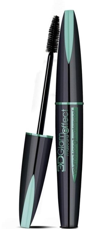 Mascara per ciglia impermeabile - Eveline Cosmetics 3D Glam Effect Mascara Waterproof  — foto N1