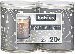 Profumi e cosmetici Candelieri con candele - Bolsius Sparkle Lights Crystal Silver Candle