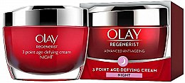 Profumi e cosmetici Crema antietà da notte - Olay Regenerist 3 Point Age-Defying Cream Night