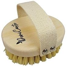 Profumi e cosmetici Spazzola da massaggio anticellulite con setole in fibra di cactus, manico in cotone - Deni Carte