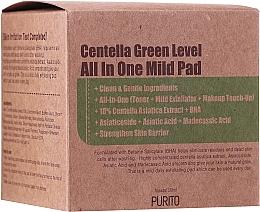 Profumi e cosmetici Dischetti detergenti idratanti con centella - Purito Centella Green Level All In One Mild Pad