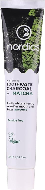 Dentifricio sbiancante con carbone e matcha - Nordics Whitening Charcoal Matcha Tooshpaste