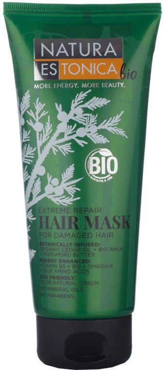 "Maschera per capelli danneggiati ""Extreme recovery"" - Natura Estonica Extreme Repair Hair Mask"