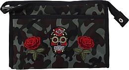 "Profumi e cosmetici Beauty case ""Camouflage"", 95917, rose e teschio - Top Choice"