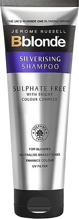 Shampoo argentate senza solfati per capelli biondi - Jerome Russell Bblonde Silverising Sulphate Free Brightening Shampoo