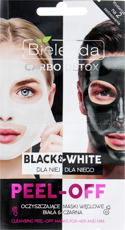 Maschera viso - Bielenda Carbo Detox Black & White Mask