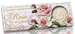 """Profumi e cosmetici Set di sapone naturale """"Rose"""" - Saponificio Artigianale Fiorentino Rosa Scented Soaps (soap/3pcsx125g)"""