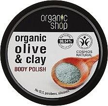 "Profumi e cosmetici Scrub corpo ""Argilla blu"" - Organic Shop Body Scrub Organic Olive & Clay"