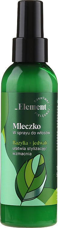 Spray rinforzante capelli anticaduta - _Element Basil Strengthening Anti-Hair Loss Leave-In Milk Spray