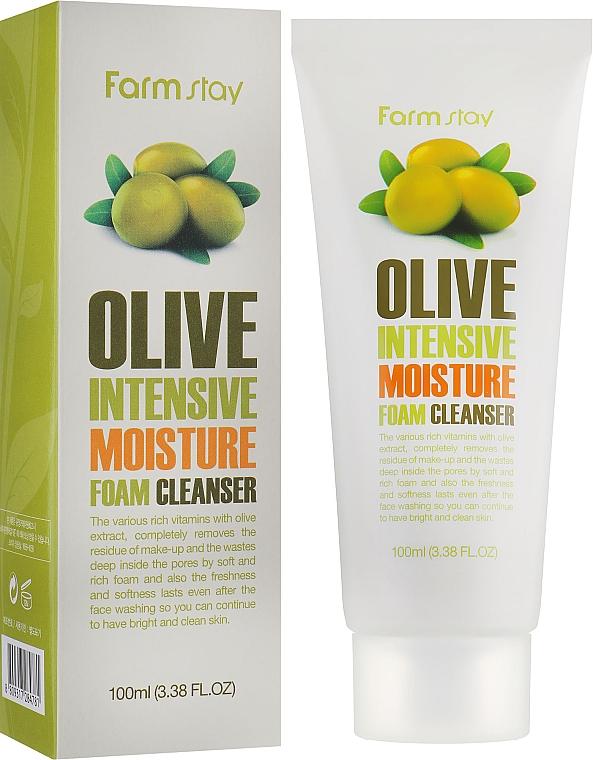 Schiuma detergente con estratto di oliva idratante - FarmStay Olive Intensive Moisture Foam Cleanser