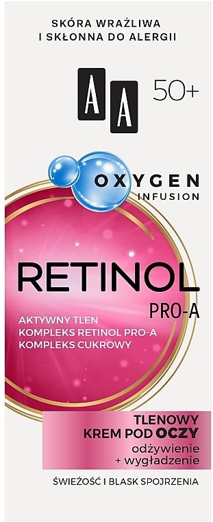 Crema contorno occhi all'ossigeno 50+ - AA Oxygen Infusion Retinol Pro-A Eye Cream