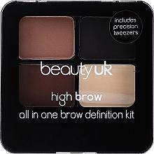 Profumi e cosmetici Set per sopracciglia - Beauty UK High Brow and Eyebrow Kit