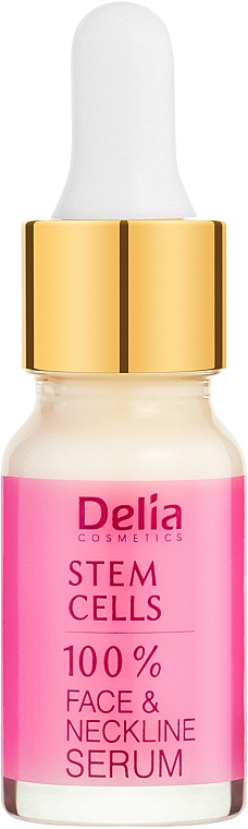Siero intensivo anti-rughe per viso e collo con cellule staminali - Delia Face Care Stem Sells Face Neckline Intensive Serum