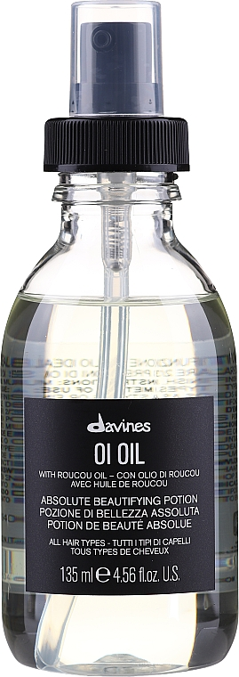 "Olio per capelli ""Pozione di bellezza assoluta"" - Davines Oi Absolute Beautifying Potion With Roucou Oil"