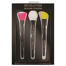 Profumi e cosmetici Set pennelli in silicone per il contouring - Makeup Revolution Silicone Contour Brush Set