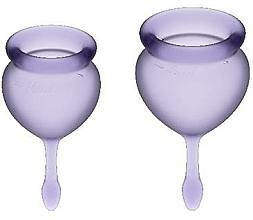 Profumi e cosmetici Set coppette mestruali, viola - Satisfyer Feel Good Menstrual Cups Lila