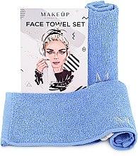 "Profumi e cosmetici Set asciugamani da viaggio, azzurro""MakeTravel"" - Makeup Face Towel Set"