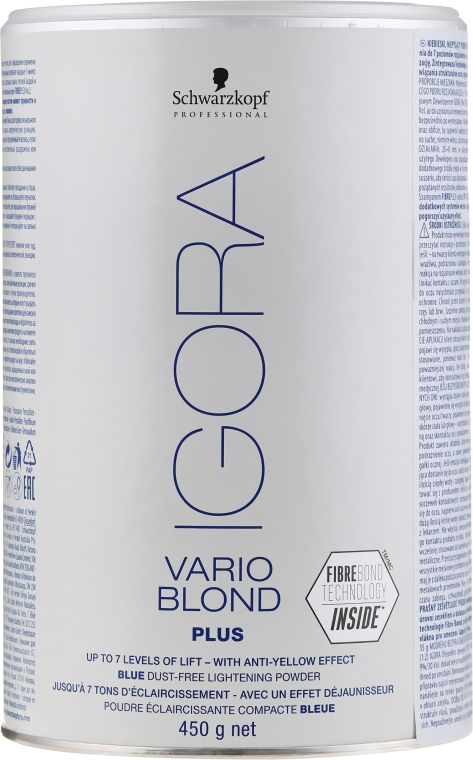 Polvere decolorante per capelli - Schwarzkopf Professional Igora Vario Blond Plus