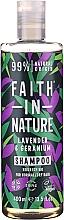 """Profumi e cosmetici Shampoo per capelli normali e secchi """"Lavanda e Geranio"""" - Faith In Nature Lavender & Geranium Shampoo"""
