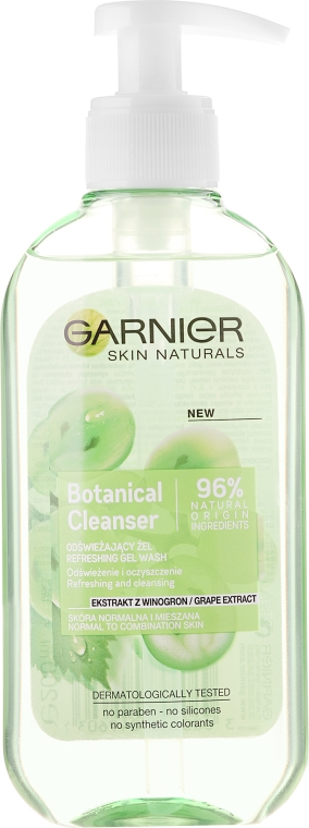 Gel detergente viso con estratto d'uva - Garnier Skin Naturals Botanical Grape Extract