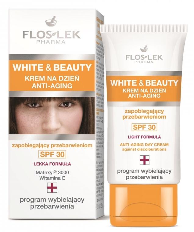 Crema viso, da giorno - Floslek White & Beauty Anti-Aging Day Cream SPF 30