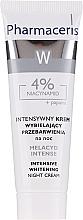 Profumi e cosmetici Crema notte viso sbiancante - Pharmaceris Melacyd Intense Whitening Night Face Cream