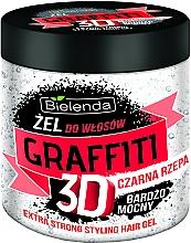 Profumi e cosmetici Gel capelli alla rapa nera - Bielenda GRAFFITI 3D Extra Strong Stayling Hair Gel