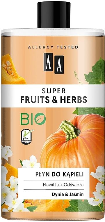 "Bagnoschiuma ""Zucca e Gelsomino"" - AA Super Fruits & Herbs"