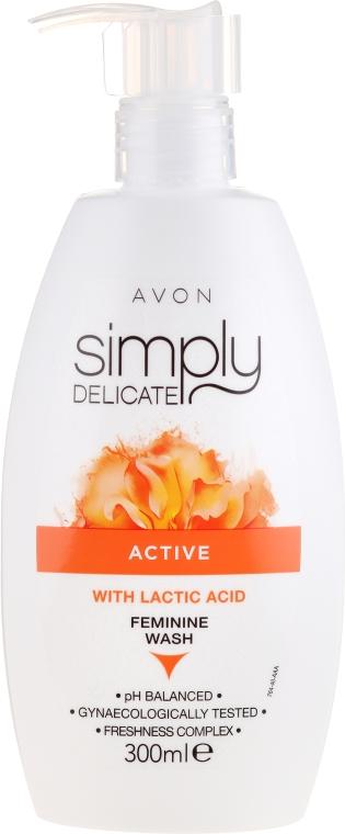 Gel crema per l'igiene intima con acido lattico - Avon Simpy Delicate Feminine Wash